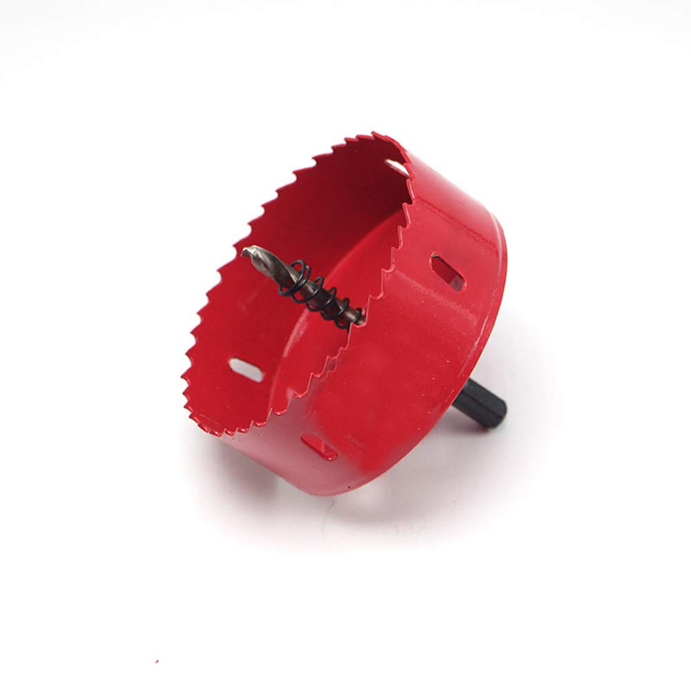 HOEN M42 HSS Hole Saw,95mm Heavy Duty Hole Saw Tooth Cutting Opener Drill Bit for Wood Aluminum Iron Sheet Pipe Plastic