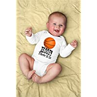 Funny Hoop There It Is Baby Bodysuit For Basketball Player, Coach, Sports Trainer