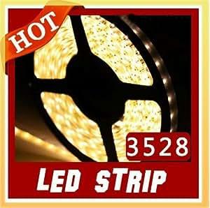 5m blanco cálido 3528Tiras de LED flexible SMD LED Flexible Luz mejor precio y