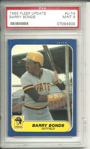 Fleer Barry Bonds - 1986 fleer update barry bonds rookie graded psa 9