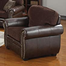 Coaster Florence Leather Chair, Chenille