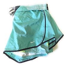 Nike Women's Running Shorts Aqua Dry Fit Built in Briefs w/ Back Pocket