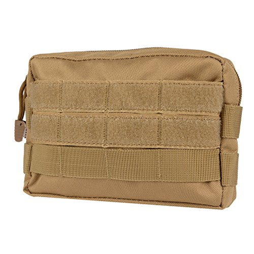 Infityle MOLLE Pouches - Tactical EDC Compact Multi-purpose Water-resistant Utility Gadget Gear Hanging Waist Bags (Tan 1 PACK, Tactical - Bag Nylon Tool Compact