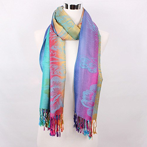 Calvin Klein Satin Tie (Scarf Women Double-sided Scarves Female Cotton Pashmina Scarf)
