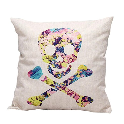 [Charberry Halloween Skull Pillow Case Sofa Waist Throw Cushion Cover Home Decor (G)] (Horror Makeup Value Kit)