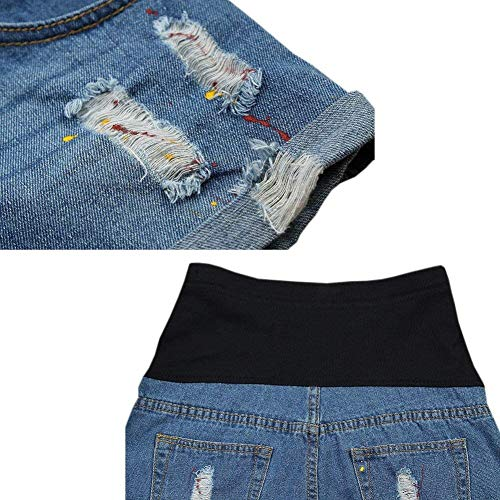 Con Pantalones Mezclilla Slim Cortos Vientre Casual Banda Circulación De Maternidad Fashion Calientes Ocasionales Lady Fit Stil2 Ropa HwEqUzS