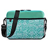 Kroo 12-13 Inch Laptop Sleeve Tablet Bag, Water Resistant Neoprene Notebook Computer Carrying Cover for MacBook, Microsoft Surface, Chromebook (Aqua - Paisley Print)