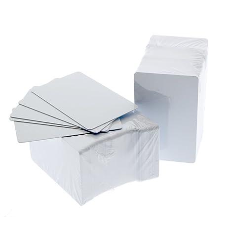 Amazon.com: Tarjetas de PVC en blanco para impresoras de ...