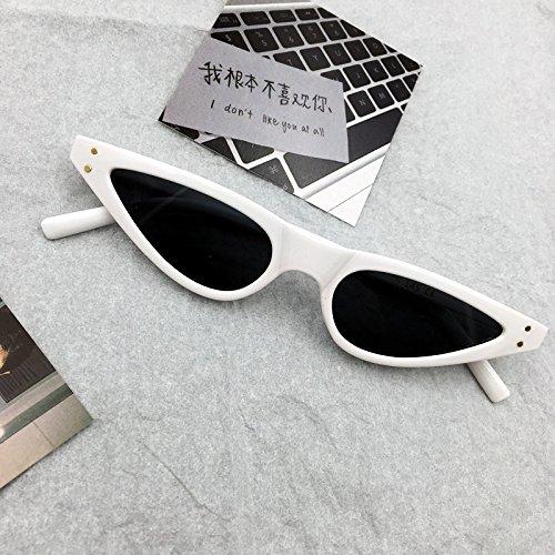Burenqi Schläger mit kleinem Rahmen Sonnenbrille Moderne alte Katze Brillen Supermodel Net Rot Sonnenbrille, EIN