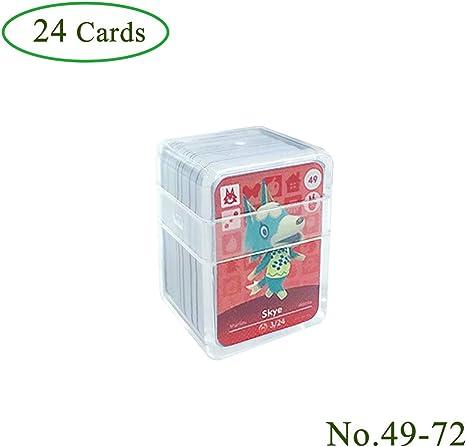 Tarjetas de juego NFC Tag para Animal Crossing, 24 piezas (No. 49-No. 72) Tarjetas de juego Nfc con estuche de cristal Compatible con Nintendo Switch / Wii U: Amazon.es: Videojuegos