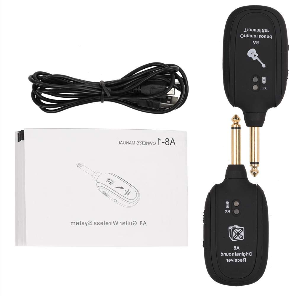 A8 UHF Wireless Guitar Transmitter Receiver Set 730mhz 50M Range for Electric Guitars Bass Violin