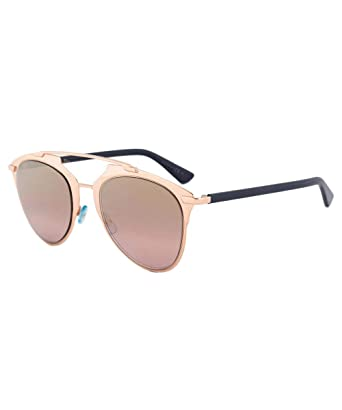 1c04736af Amazon.com: New Christian Dior REFLECTED 321/0R rose gold blue/gold shaded  mirror Sunglasses: Clothing