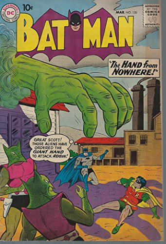 Batman #130 DC Silver Age Batman in Fine condition featuring the Hand from Nowhere ()