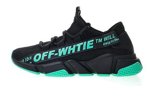 Off White Balenciaga Speed Stretch Knit Sock Trainer Black Green Zapatillas de Running para Hombre Mujer: Amazon.es: Zapatos y complementos