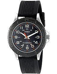 Timex Mens TW2P87200 Taft Street Black Silicone Strap Watch