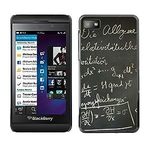 TECHCASE**Cubierta de la caja de protección la piel dura para el ** Blackberry Z10 ** Black Board School German Writing Letters