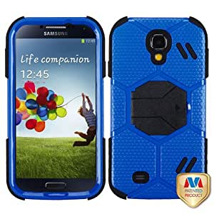 MyBat Samsung Galaxy S 4 Goalkeeper Hybrid Cover with Stand - Retail Packaging - Blue/Black