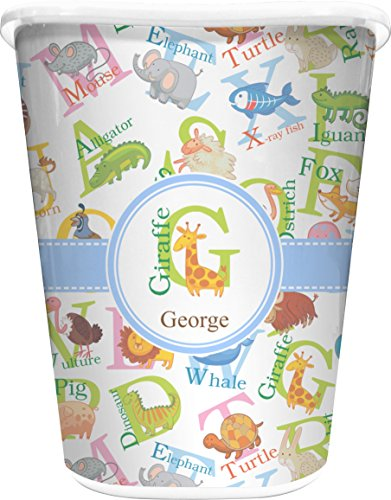 Animal Alphabet Waste Basket (White) (Alphabet Wastebasket)