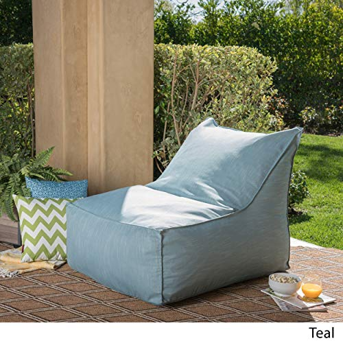 Christopher Knight Home Tulum Outdoor Water Resistant Fabric Bean Bag Lounger Teal