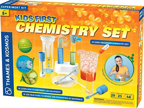 "Thames and Kosmos Kids First Chemistry Set Science Kit Conduct Experiments To Identify Different Chemicals - 16.8L"" x 3.2W"" x 11.5H"" - Ages 8+ years"