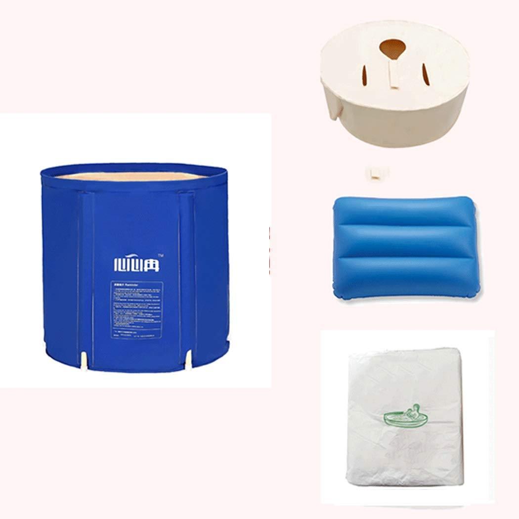 YONGYONG Adult Bath Tub Folding with Bracket Free Inflatable Bathtub Thick PVC Tub 65CM*65CM, 65CM*70CM (Color : B, Size : 65CM*65CM) by Yongyong (Image #2)