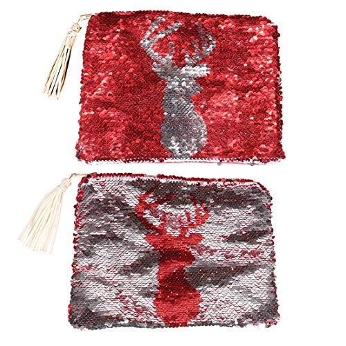 DEI Sequin with Deer Tassel Clutch SrnaqS1zx
