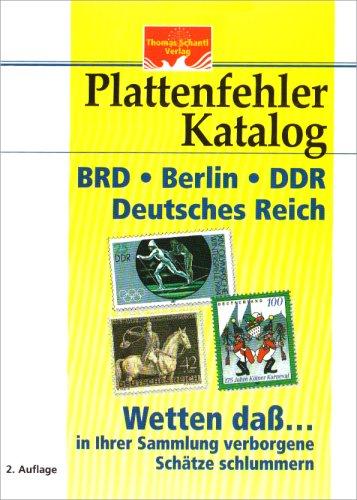 Plattenfehler-Katalog BRD, Berlin, DDR und Deutsches Reich: Inflation, Weimar und III. Reich