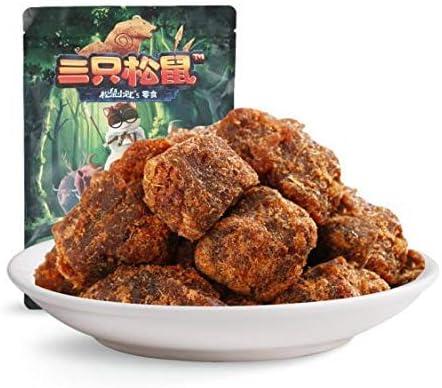 三只松鼠 XO酱味牛肉干 中国名物 おつまみ 大人気 肉干肉脯零食牛肉干 110g/袋