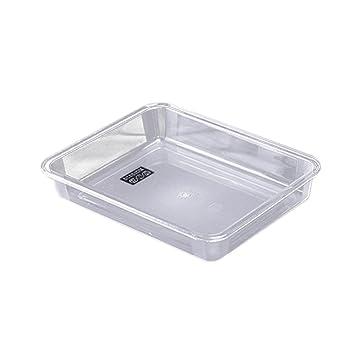 BESTONZON Bandejas de plástico transparente Bandeja de servicio de comidas Bandejas de fiestas