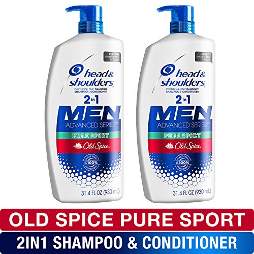 - Head and Shoulders Shampoo and Conditioner 2 in 1, Anti Dandruff Treatment, Old Spice Pure Sport , 31.4 Fl Oz, Twin Pack