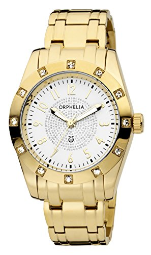 ORPHELIA Women's Analogue Classic Glam Gold Stainless steel-12608