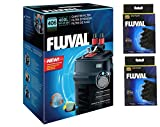Fluval 406 External Filter with 2 Extra Fluval 306/406 Bio-foam replacements