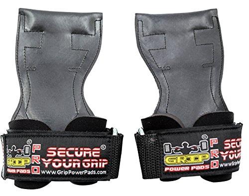 Lifting Grips PRO Weight Gloves Heavy Duty Straps Alternative to Power Hooks Deadlifts Adjustable Neoprene Padded Wrist Wrap (Medium)