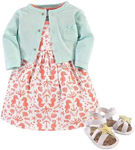 Hudson Baby 3 Piece Dress, Cardigan, Shoe Set
