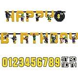 Lego Batman Jumbo Custom Age Letter Banner - Printed Paper Birthday Party Supplies