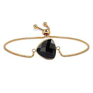Pulsera De Acero Inoxidable,Moda Negro Oro Elegante Encanto ...