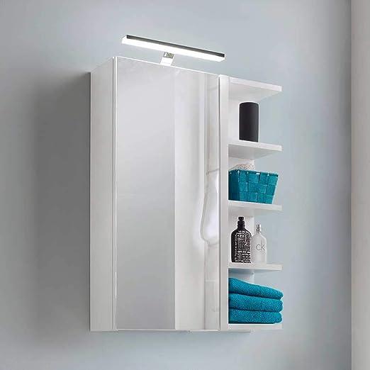 Pharao24 Weisser Spiegelschrank Mit Led Beleuchtung Schmal Amazon