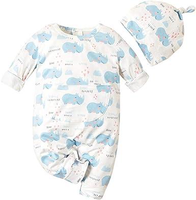 Newborn Infant Kids Baby Boys Girls Romper Jumpsuit Sunsuit Outfits Clothes Set