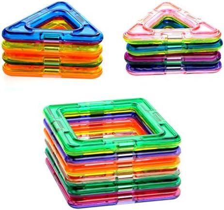 Tinksky 14ST DIY intelligente magnetische Stücke magnetische Bausteine pädagogisches Spielzeug Konstruktionsset für KinderChildren Gehirnentwicklung (zufällige Farbe)