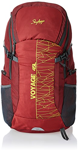 Skybags Nylon 45 Ltrs Red Hiking Rucksacks (RUC45LRED)