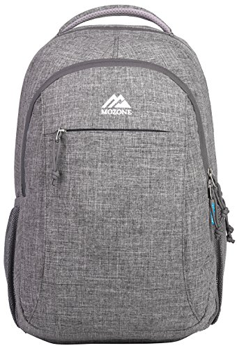 Mozone Casual Lightweight Water Resistant College School Laptop Backpack Travel Bag Grey