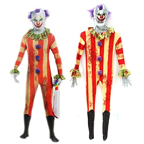 Mocona Halloween child zombie clown clothing leica material clown jumpsuit