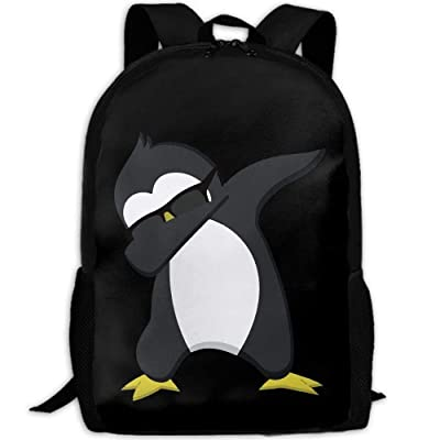CYMO Funny Dabbing Penguin Unique Outdoor Shoulders Bag Fabric Backpack Multipurpose Daypacks for Adult: Toys & Games