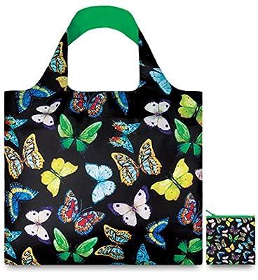 LOQI Wild Butterflies Reusable Shopping Bag, Multicolor