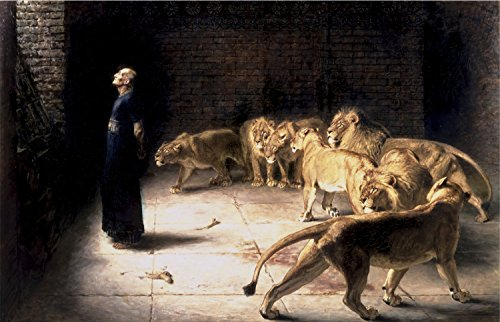 Briton Rivière - Daniel's Answer to The King, Size 24x36 inch, Gallery Wrapped Canvas Art Print Wall décor