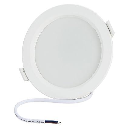 BLOOMWIN 7W Sensor de radar Luz de techo blanco calido foco empotrable LED con detector de