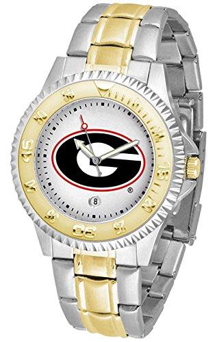 (Georgia Bulldogs Competitor Two-Tone Men's Watch)