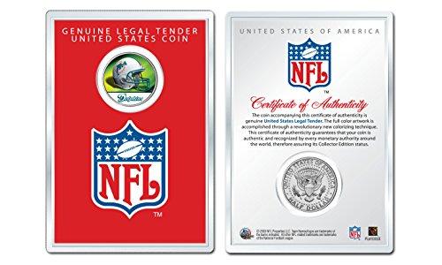 MIAMI DOLPHINS NFL Helmet JFK Half Dollar U.S. Coin w/NFL Display Case LICENSED