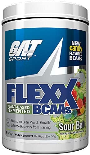 GAT Sport Flexx BCAAs, Sour Ball, 30 Servings