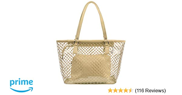 Amazon.com  Micom Cute Neno Candy Color Polka Dot Clear Beach Tote Shoulder  Handbag (Beige)  Clothing 32349904886ad
